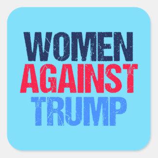 Adesivo Quadrado Mulheres contra o trunfo