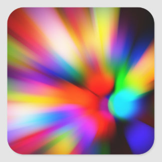 Adesivo Quadrado Multi luzes borradas da cor