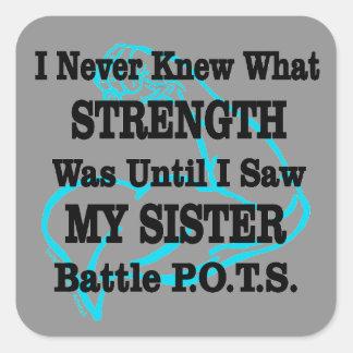 Adesivo Quadrado Muscle/I nunca conheceu… a irmã