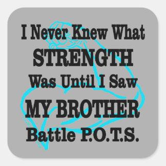 Adesivo Quadrado Muscle/I nunca conheceu… o irmão