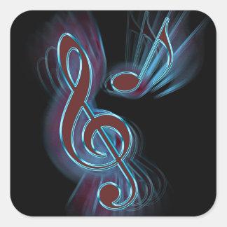 Adesivo Quadrado Música abstrata