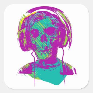 Adesivo Quadrado Música do zombi