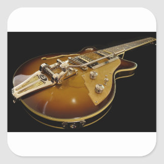 Adesivo Quadrado Música rock da música do instrumento da guitarra