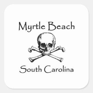 Adesivo Quadrado Myrtle Beach South Carolina Roger alegre