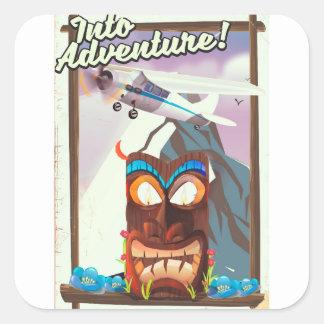 Adesivo Quadrado na aventura!