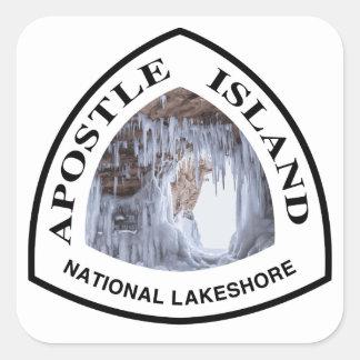 Adesivo Quadrado Nacional da ilha do apóstolo Lakeshore