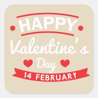 Adesivo Quadrado Namorados felizes o 14 de fevereiro