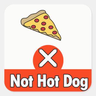 Adesivo Quadrado Não cachorro quente
