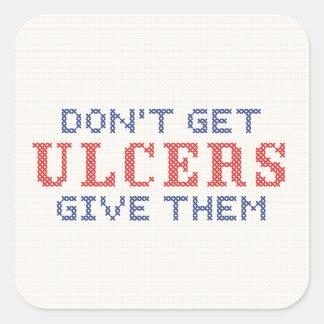 Adesivo Quadrado Não fique úlceras