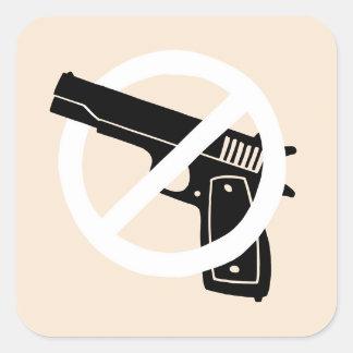 Adesivo Quadrado Não mais armas (etiquetas)