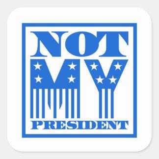 Adesivo Quadrado Não meu presidente bandeira dos Estados Unidos