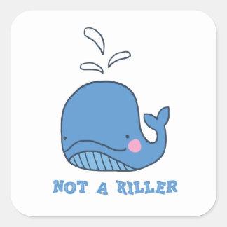 Adesivo Quadrado Não um assassino