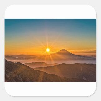 Adesivo Quadrado Nascer do sol