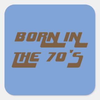 Adesivo Quadrado Nascer nos anos 70