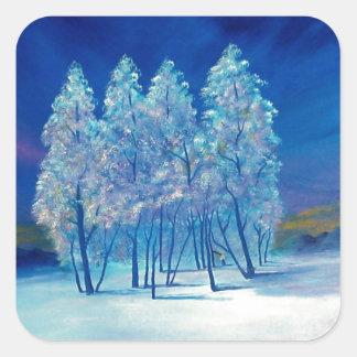 Adesivo Quadrado Natal azul #4