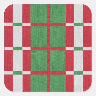 Adesivo Quadrado Natal listrado