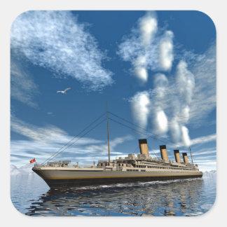 Adesivo Quadrado Navio titânico - 3D rendem