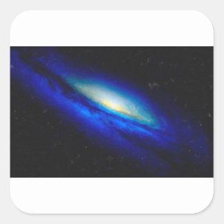 Adesivo Quadrado Nebulla abstrato com a nuvem cósmica galáctica 26
