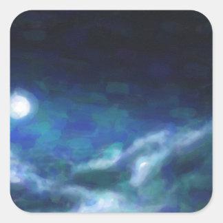 Adesivo Quadrado Nebulosa galáctica abstrata com nuvem cósmica 14