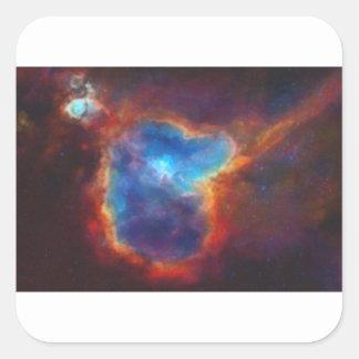 Adesivo Quadrado Nebulosa galáctica abstrata com nuvem cósmica 4a