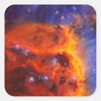 Adesivo Quadrado Nebulosa galáctica abstrata com nuvem cósmica 5