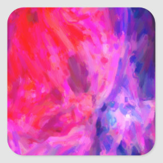 Adesivo Quadrado Nebulosa galáctica abstrata com nuvem cósmica 6