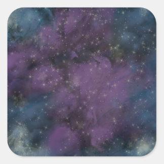 Adesivo Quadrado Nebulosa roxa da galáxia