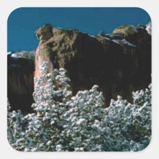 Adesivo Quadrado neves do inverno no deserto