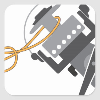 Adesivo Quadrado Nó da pesca para conectar a linha ao vetor do
