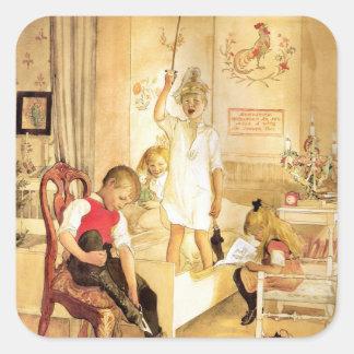 Adesivo Quadrado Noite de Natal Julaftonen