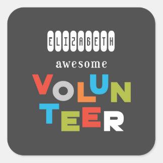 Adesivo Quadrado Nome feito sob encomenda, apreciação voluntária