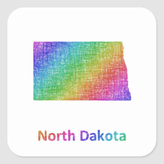 Adesivo Quadrado North Dakota