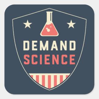 Adesivo Quadrado Nós as pessoas da ciência da procura em América