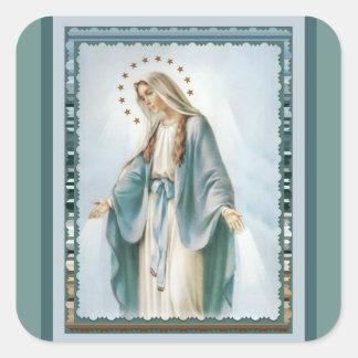 Adesivo Quadrado Nossa senhora da Virgem Maria da benevolência