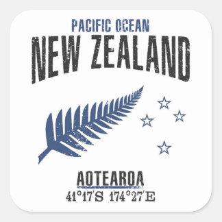 Adesivo Quadrado Nova Zelândia