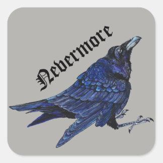 Adesivo Quadrado Nunca mais corvo