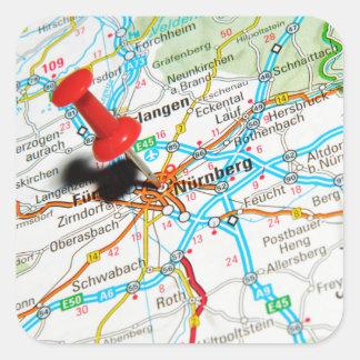 Adesivo Quadrado Nuremberg, Nürnberg Alemanha