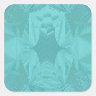 Adesivo Quadrado Nuvens do abstrato macio marinho do Pastel do Aqua