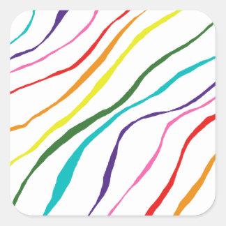 Adesivo Quadrado O abstrato colorido listra o teste padrão