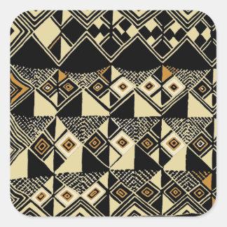 Adesivo Quadrado O africano Kuba inspirou o design