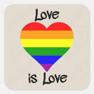 Adesivo Quadrado O amor é amor