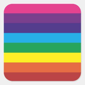 Adesivo Quadrado O arco-íris colorido listra fontes do partido do