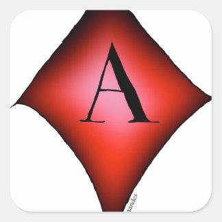 Adesivo Quadrado O ás de diamantes por Tony Fernandes