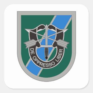 Adesivo Quadrado ø BN do COMANDO M.I das FORÇAS ESPECIAIS.
