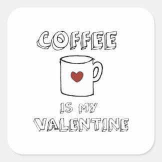 Adesivo Quadrado O café é meus namorados