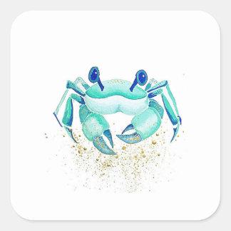 Adesivo Quadrado O caranguejo de Netuno