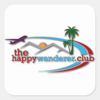 Adesivo Quadrado O clube feliz do andarilho
