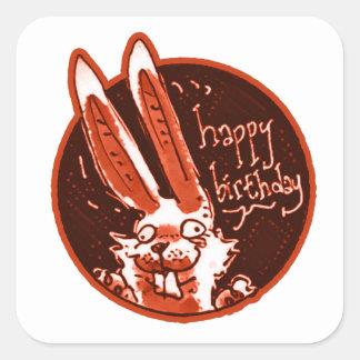 Adesivo Quadrado o coelho engraçado confuso diz desenhos animados