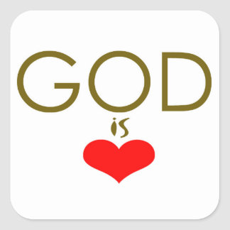 Adesivo Quadrado O deus é amor