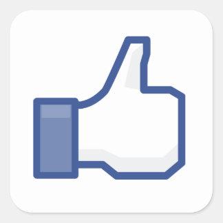 Adesivo Quadrado o facebook GOSTA de me de manusear acima!